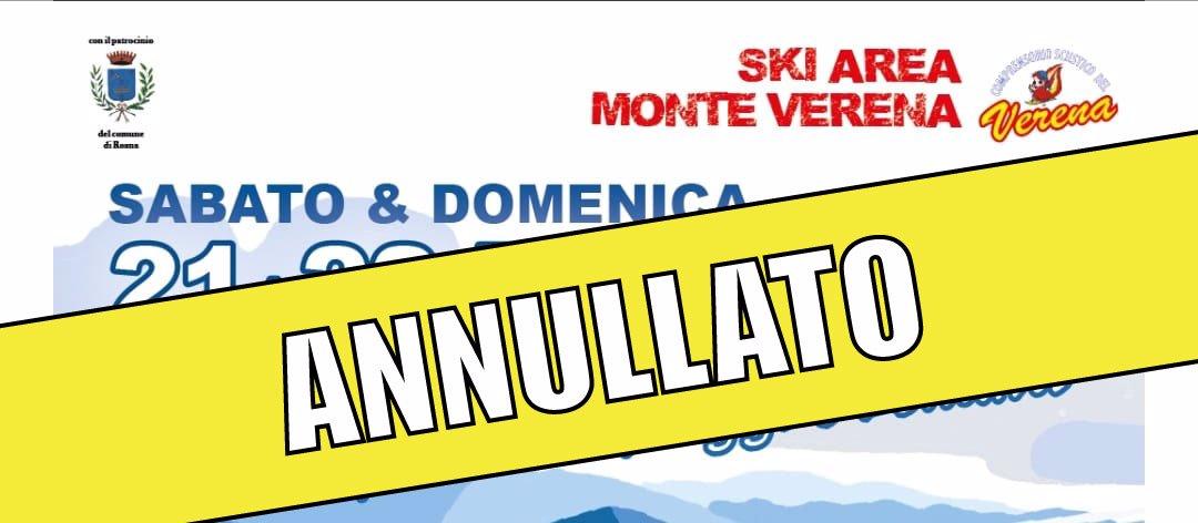 evento annullato ski apres nuovo impianto verena w