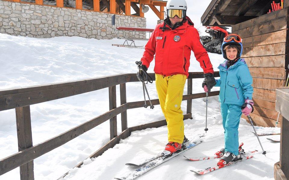 maestro scuola sci e bambino w