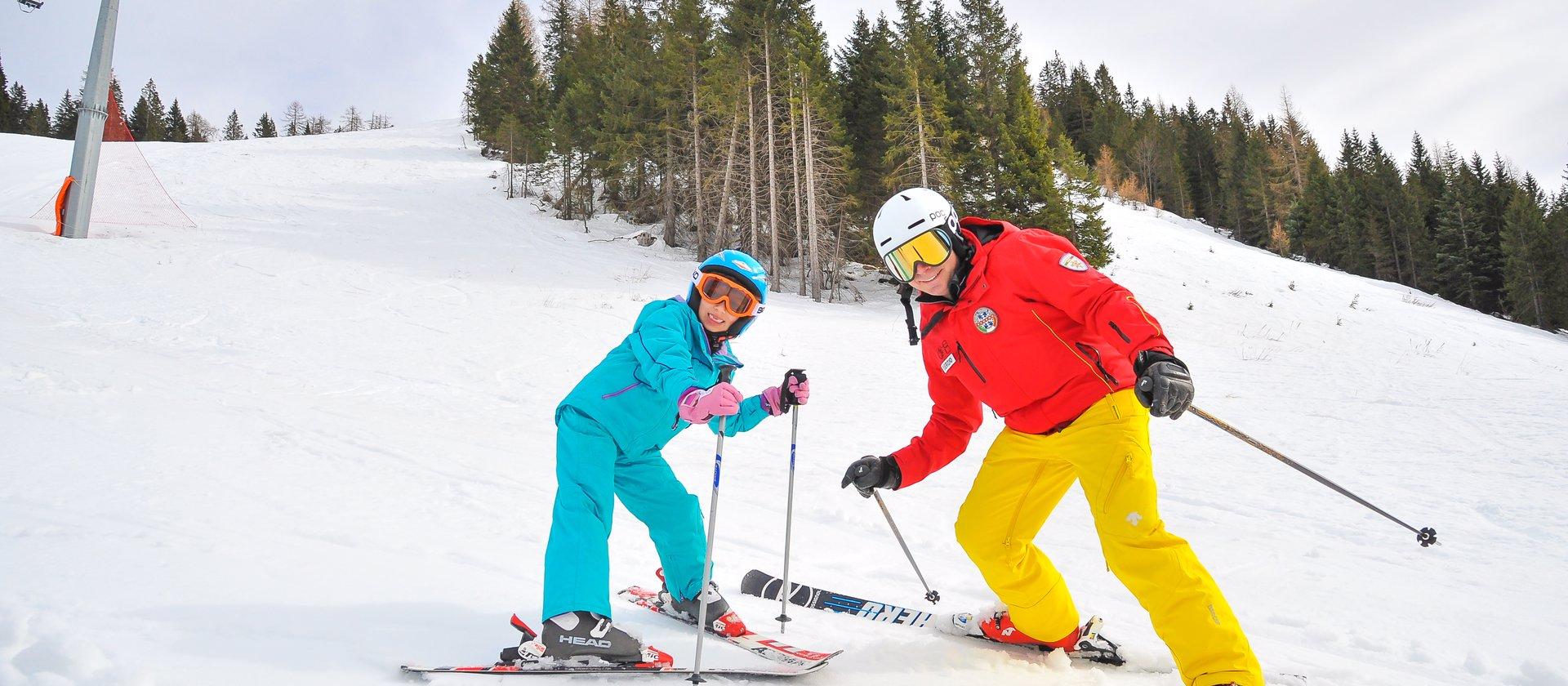 maestro sci con bambino w